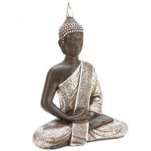 Juliana Collection Juliana Grande assis argent antique Bouddha Thaï de la marque image 0 produit