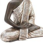 Juliana Collection Juliana Grande assis argent antique Bouddha Thaï de la marque image 2 produit