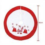 Jupe Arbre de Noël en Velours Vacances Arbre Ornements Tapis de décoration pour Noël Christmas,91.4 cm de la marque Suparee image 1 produit