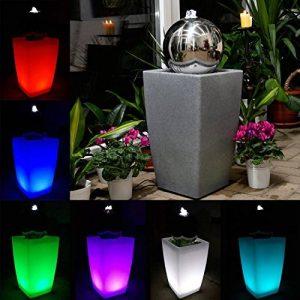 Köhko Eau Jeu de lumière 30cm Fontaine 51006M avec bac en blanc lait avec changement de couleur par télécommande infrarouge 24touches de la marque Köhko image 0 produit
