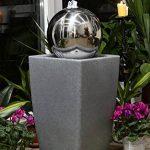 Köhko Eau Jeu de lumière 30cm Fontaine 51006M avec bac en blanc lait avec changement de couleur par télécommande infrarouge 24touches de la marque Köhko image 1 produit