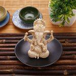 Kicode Bouddha Ornement d'éléphant Statue Sculptures Ganesha Figurine de grès Jardin fait à la main Décoration de maison de la marque Kicode image 3 produit