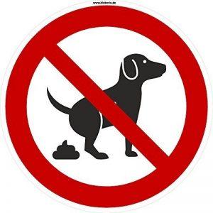 Kleberio Plaque ronde d'interdiction 20cm, interdit aux chiens de faire leurs besoins ici, plaque ronde solide en aluminium de la marque kleberio image 0 produit