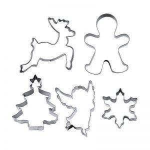 knusper.haus '– Emporte-pièces à biscuits/biscuits formes Set Boulangerie (Noël–5pièces/4–7,5cm–Acier inoxydable) Top–QUALITÉ de la marque knusper.haus image 0 produit