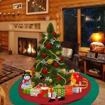 Konsait Jupe de Sapin rouge Noël 35 pouces de diamètre rond Grande Base couvre-pied de sapin Applique Noël pour Décoration arbre de Noël (90cm) de la marque Konsait image 3 produit