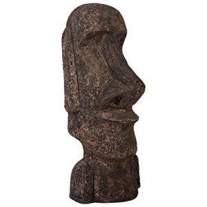 L'Île de Pâques statue Moai verkleinert 121cm pour l'extérieur en fibre de verre haute qualité plastique (GFK) de la marque Walt-Deko image 0 produit