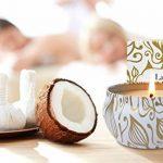 La Jolie Muse Bougie parfumée à la cire de soja à 100% Aromathérapie à la vanille et à la noix de coco pour soulagement de stress boite de voyage de 45Heures de la marque La Jolie Muse image 3 produit