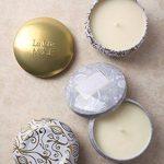 La Jolie Muse Bougie parfumée à la cire de soja à 100% Aromathérapie à la vanille et à la noix de coco pour soulagement de stress boite de voyage de 45Heures de la marque La Jolie Muse image 4 produit