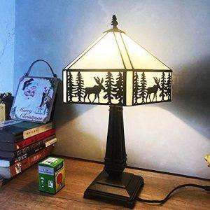 Lampe de bureau rétro de Noël de style européen de résine de LANS Lampe de table léger de Noël de modèle de sapin de Noël de la marque LANS image 0 produit