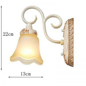 Lampe Murale jardin de style européen de l'hôtel vintage wall lamp-américain Chambre salon mur de chevet plat wall lamp (Style: A) de la marque EQEQ image 0 produit