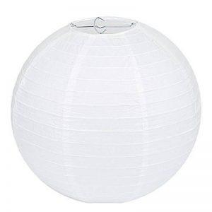 """Lampion Papier Blanc - Lot de 10 pièces, LIHAO 12""""(30cm) Lanterne Papier Boule pour Décoration de Mariage, Maison, Fête etc. de la marque LIHAO image 0 produit"""