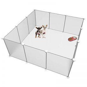 Langxun Taille réglable et hauteur libre de parc pour animaux de compagnie bricolage - Clôture de jardin en plastique pour les petits animaux - Système d'organisation de placard de bricolage, organisateur de cubes en plastique de stockage de fil - Panneau image 0 produit