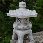 Lanterne Japonaise Yukimi OKI Gata en pierre Fonte au gel, gris, 40 cm de la marque gartendekoparadies.de image 2 produit