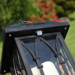 Lanterne Solaire Décorative Noir Mat avec Bougie LED Effet Vacillant (Pile Rechargeable Incluse) Waterproof - 27cm de la marque Festive Lights image 4 produit