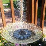 LATITOP Free - Standing Flottant Pompe Solaire Solar Fontaine, de Jardin, 1.4W Bain D'oiseau, Petit étang de la marque LATITOP image 6 produit