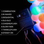 LE 10m Guirlande Lumineuse Boules 100 LED 8 Modes Lumineux Dynamique avec Fonction de Mémoire Parfait pour Décoration Chambre Noël Arbre Sapin Jardin Mariage Terrasse Pelouse Prise EU de la marque Lighting EVER image 2 produit
