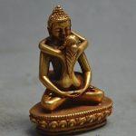 Le bouddhisme Tibet Bronze Doré Doré Samantabhadra Yabyum Tathagata Statue Figurine de la marque YUNHAO image 1 produit