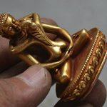 Le bouddhisme Tibet Bronze Doré Doré Samantabhadra Yabyum Tathagata Statue Figurine de la marque YUNHAO image 4 produit
