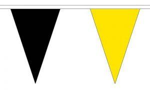 Le Drapeau grossiste B037813Noir et jaune Triangle fanions, Multicolore, 24x 1x 23cm de la marque The Flag Wholesaler image 0 produit