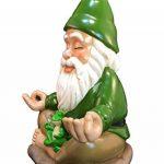 Le Nain Zen – Tranquillité et paix dans votre jardin – par GlitZGlam (23cm de haut) de la marque GlitZGlam image 1 produit