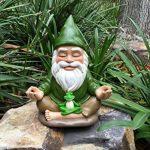 Le Nain Zen – Tranquillité et paix dans votre jardin – par GlitZGlam (23cm de haut) de la marque GlitZGlam image 4 produit