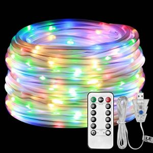 LE Tube Lumineux Extérieur Guirlande Lumineuse LED RGBY USB 10m 100 LED, 8 Modes d'Eclairage Etanche IP65 avec Télécommande, Guirlande Tube pour Décoration Extérieure Intérieure Jardin Arbre Terrasse Pergola Tonnelle Balcon de la marque Lighting EVER image 0 produit