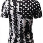 Leapparel Hommes 3D Imprimé Mode V Neck Manches Courtes Vintage T Shirt Tees Tops de la marque Leapparel image 1 produit