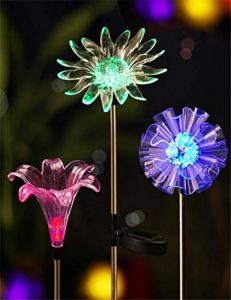 LED Couleur Changeante Solar Stake Lights Extérieure, Solar Light LED Décor De Jardin Statues, Patio Lights LED Extérieure Multicolore Changeant LED Lights, [Set De 3] de la marque JFJL image 0 produit
