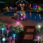 LED Couleur Changeante Solar Stake Lights Extérieure, Solar Light LED Décor De Jardin Statues, Patio Lights LED Extérieure Multicolore Changeant LED Lights, [Set De 3] de la marque JFJL image 2 produit