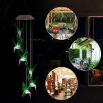 LED Lampe Carillon à Vent Energie Solaire - Efanty Carillon Solaire LED Lumière Changeant de Couleurs Lampe Solaire pour Jardin Patio Porch Mobile D'exterieur Ou Intérieur Décor - Oiseau-mouche de la marque Efanty image 2 produit