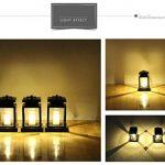 LED Lanterne solaire Romantica Leuchten Lampe solaire de sécurité résistante aux intempéries avec bougies Décoration Jardin Terrasse Lampadaire Décoration balcon piscine bassin solaire Escalier Lampe de la marque MIANBAOSHU image 3 produit