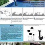 Ledgle Pompe à Eau Solaire de 5W Fontaine de Jardin Solaire avec Débit Maximum 380L/H de la marque Ledgle image 4 produit