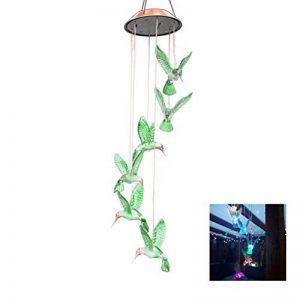 LEDMOMO Carillon à vent Solaire LED en forme d'oiseau-mouche Changeanet de Couleur Lampe led Solaire Etanche Carillon de vent Lumière Décoration pour Jardin,Maison,Fête de la marque LEDMOMO image 0 produit