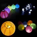 LEORX Paquet de 60 Blanc LED Ballons Lampes pour Lanternes en papier Ballons (60) de la marque LEORX image 4 produit