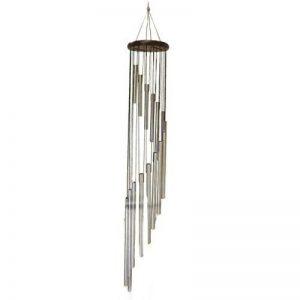 Les Trésors De Lily P8813 - Carillon bois 'Zen attitude' noir argenté - 94x12 cm de la marque Les Trésors De Lily image 0 produit