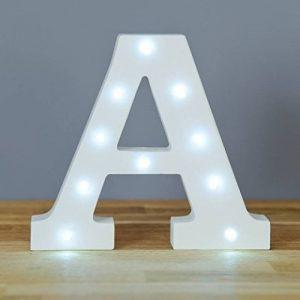 Lettre de l'alphabet lumineux–décoratifs LED Blanc lettres en bois, A de la marque smiling faces image 0 produit