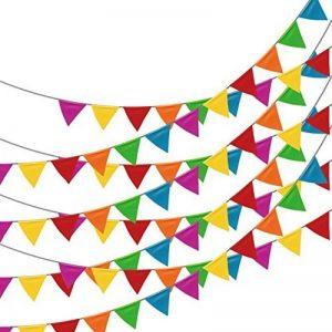 Linxii 150pcs Multicolore Tissu fanions drapeaux réutilisables pour accessoires de fête Décorations (263Pieds) de la marque Acooe image 0 produit