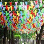 Linxii 150pcs Multicolore Tissu fanions drapeaux réutilisables pour accessoires de fête Décorations (263Pieds) de la marque Acooe image 2 produit