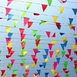 Linxii 150pcs Multicolore Tissu fanions drapeaux réutilisables pour accessoires de fête Décorations (263Pieds) de la marque Acooe image 3 produit