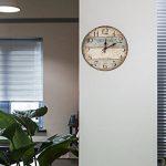LOHAS Home 30cm Vintage Horloge murale rustique, silencieuse en bois cadran horloge minuteur pour la maison Salon Chambre Bureau Café Bar Decor (Victor Hugo) de la marque LOHAS Home image 1 produit