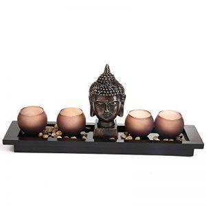 London Boutique Ensemble cadeau Décoration style jardin zen avec statuette de bouddha et bougeoirs Thai de la marque London Boutique image 0 produit