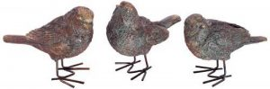 London Ornaments L02420040 Lot de 3 oiseaux effet bronze pour décoration de jardin de la marque London Ornaments image 0 produit