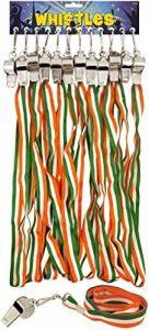 Lot de 12Gamme vente en gros Couleur sifflets–Drapeau Irlande ST Patrick de jour de la marque Range Wholesale image 0 produit