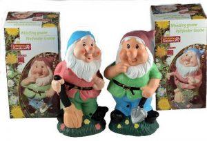 Lot de 2sifflante Gnomes–Sensor Action–Fun Jardin ou maison Ornement de la marque Giftworks image 0 produit