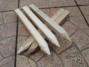 Lot de 20 30,0 cm (300 mm) traité Site Piquets en bois Piquets Piquets de poteaux … de la marque Konrado-Garden image 0 produit