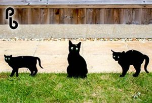 Lot de 3épouvantails de chat effrayant avec des yeux réalistes par PestBye de la marque PestBye image 0 produit