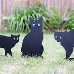 Lot de 3épouvantails de chat effrayant avec des yeux réalistes par PestBye de la marque PestBye image 3 produit