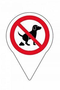 Lot de 4schild Panneau Interdiction pas crottes de chien/150x 110mm–Impression directe sur 4mm aludibond de la marque Allesklaro Digitaldruck image 0 produit