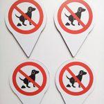 Lot de 4schild Panneau Interdiction pas crottes de chien/150x 110mm–Impression directe sur 4mm aludibond de la marque Allesklaro Digitaldruck image 1 produit