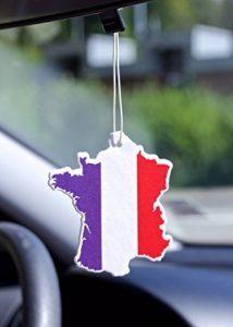 Lot de 5 Désodorisant voiture car fresh drapeau France dans différents odeurs souvenir de la marque Fresh Duft image 0 produit